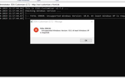 ESXi Customizer Windows 10 Fix
