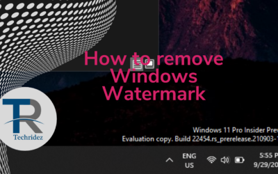 How to remove Windows Watermark